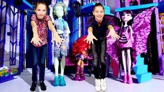 Видео для девочек Монстер Хай - маникюр к вечеринке