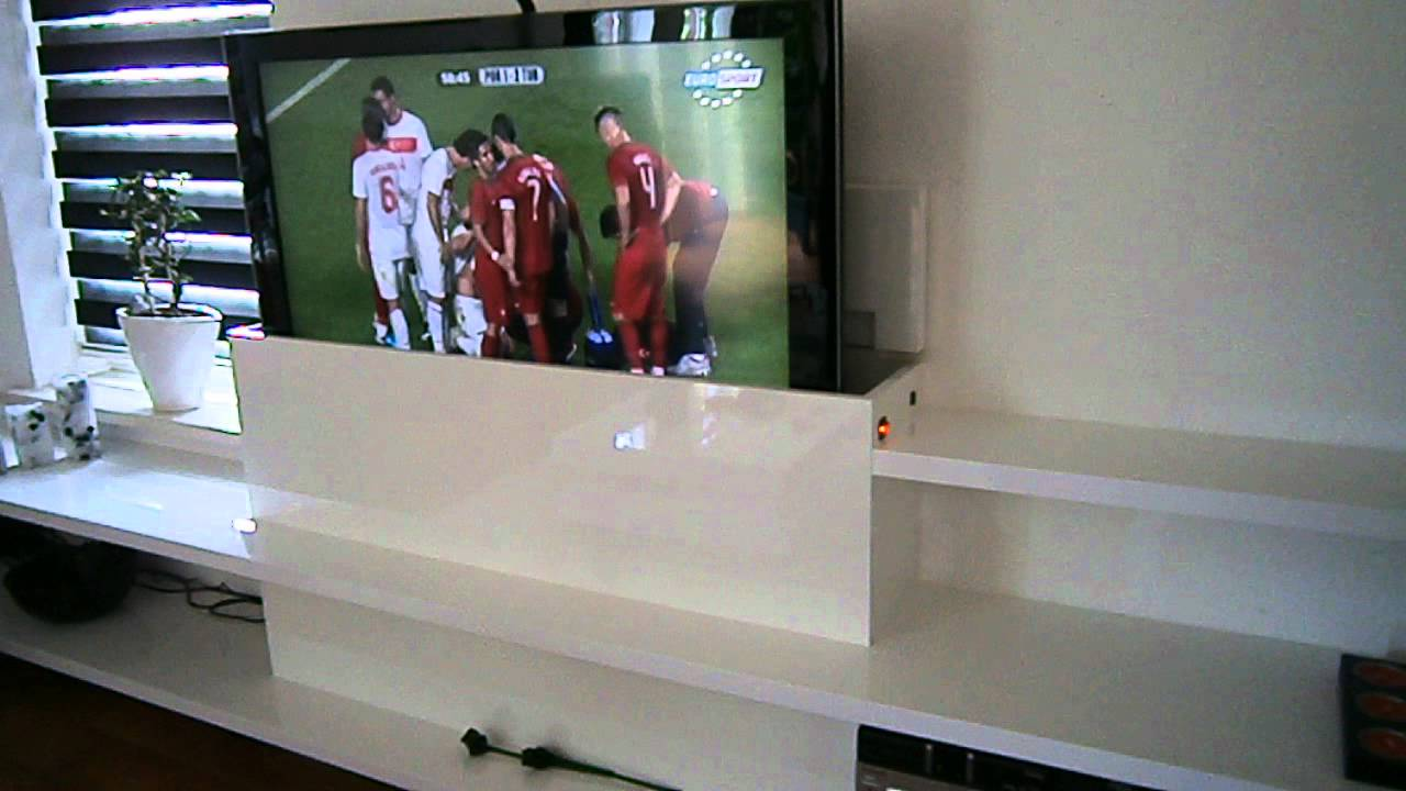 tv meubel met lift 1 youtube. Black Bedroom Furniture Sets. Home Design Ideas