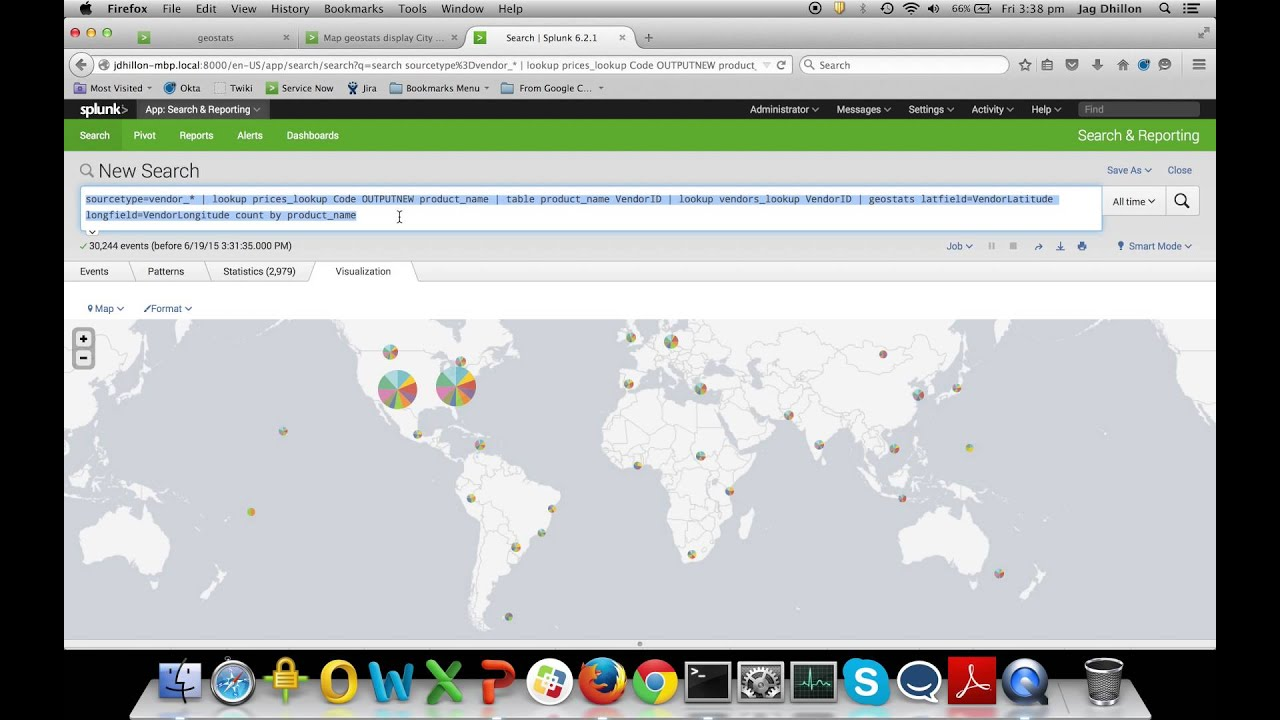 Splunk for GovHack tutorial: Map visualisation