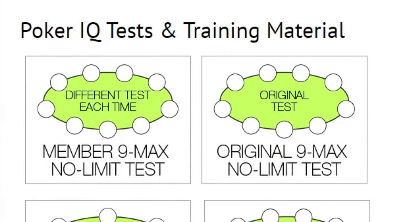 What Is Your Poker Iq Score Poker Test Poker Training Analysis