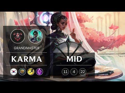 Karma Mid vs Lissandra - KR Grandmaster Patch 9.3