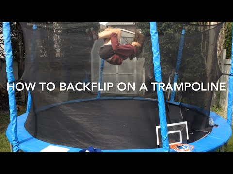 How to Backflip on a trampoline In 3 minutes! (Very easy ...