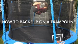 how to backflip on a trampoline in 3 minutes very easy for beginners