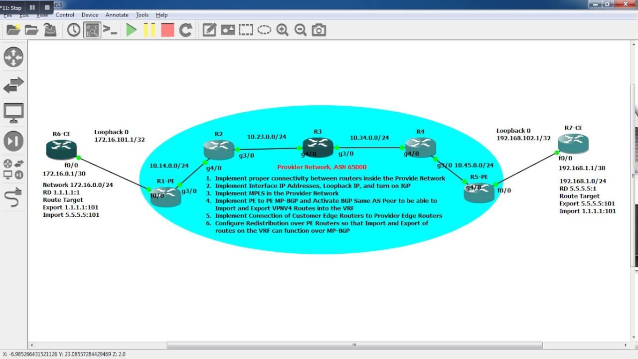 Bgp Mpls Vpn Configuration Example