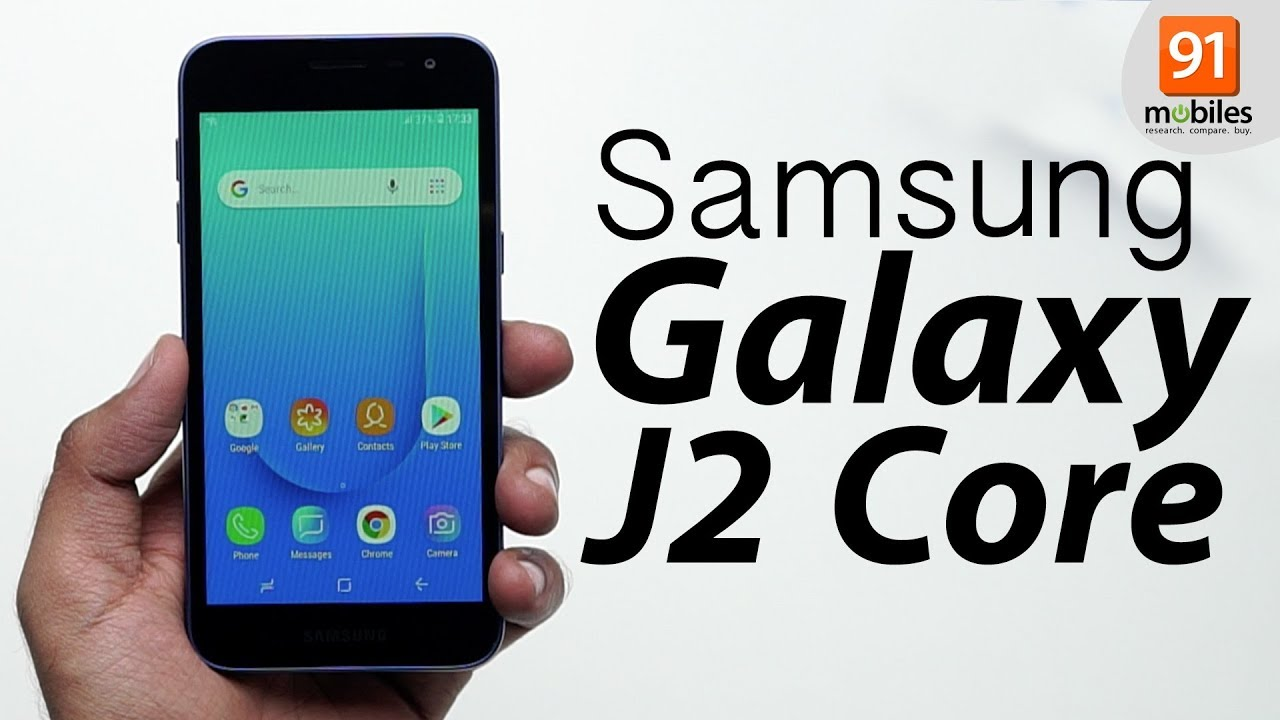 Samsung Galaxy J2 Core  Unboxing   Hand on   Price  Hindi हिन्दी  78a5e225e9d8