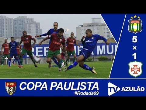São Caetano 5x1 Portuguesa Santista || Copa Paulista #Jogo09