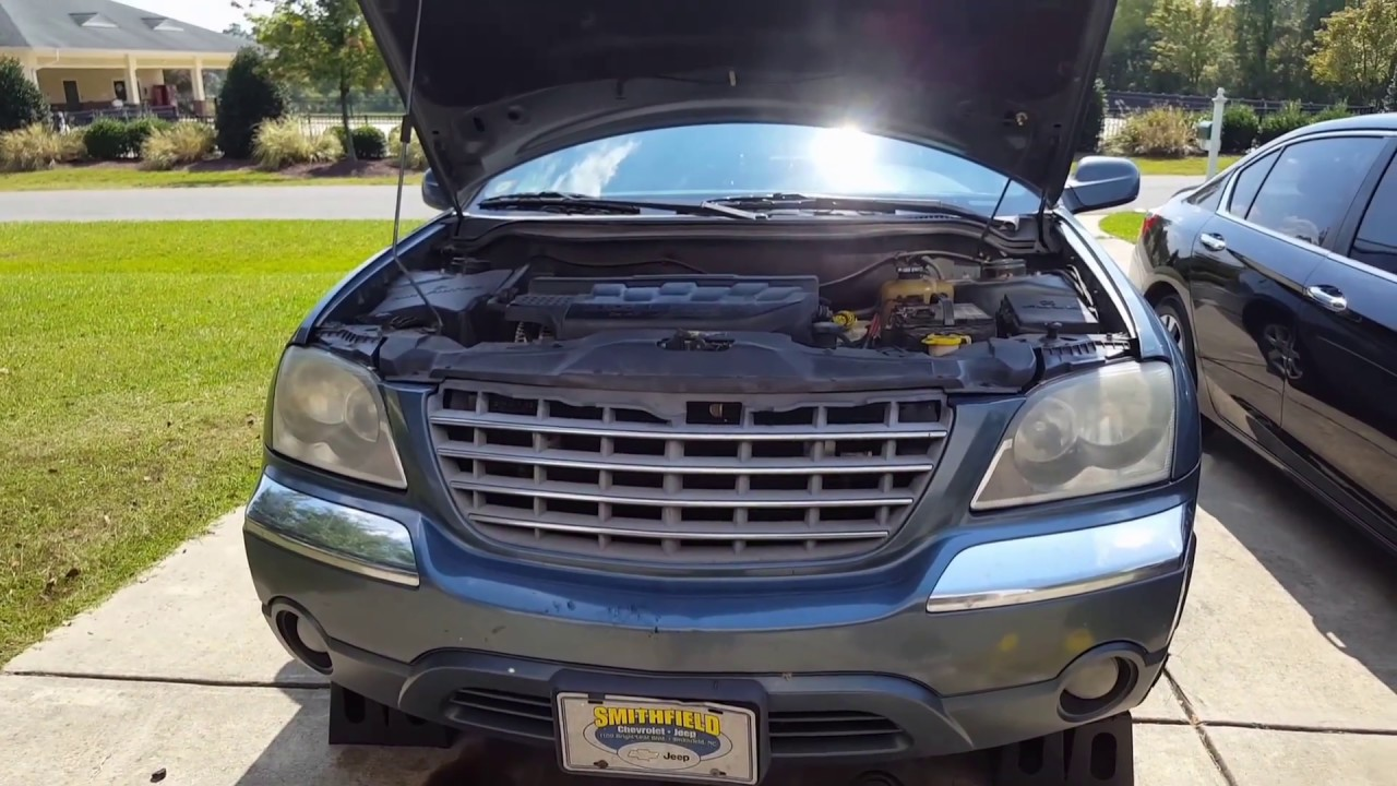 hight resolution of replacing radiator on 2005 chrysler pacifica