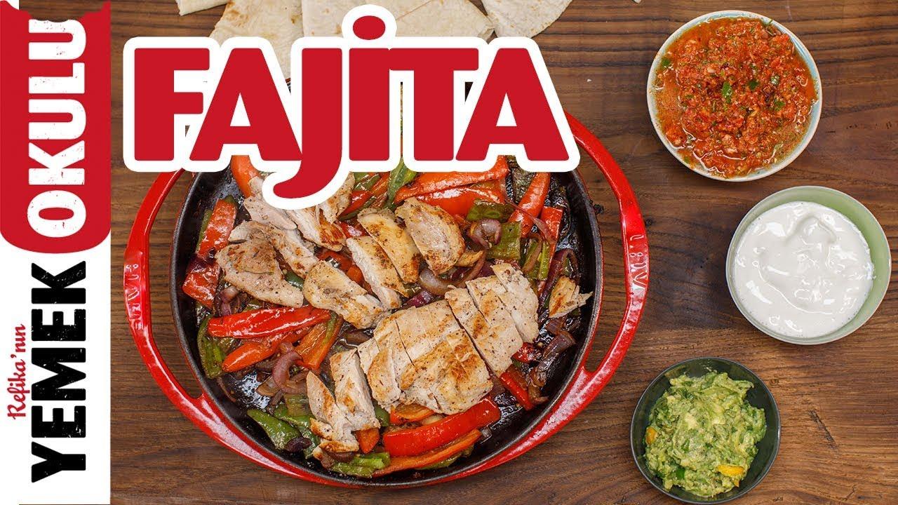 Meksika'nın Tavuk Fajitasını Evde Yapmak | Guacamole ve Salsa Sos İle Birlikte