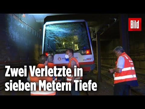 Unfall in Hamburg: U-Bahn prallt gegen ein Hindernis