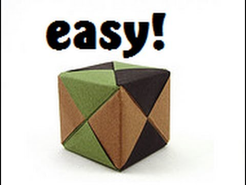 Origami Sonobe Cube Instructions Full HD