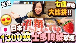 【試食】1300蚊日本士多啤梨放題????七個產地大比拼????!
