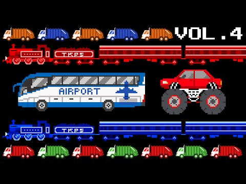 Vehicles Collection Volume 4 - Monster, Airport, Colors, Patterns - The Kids' Picture Show