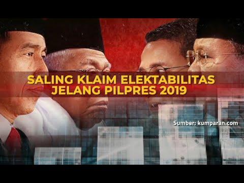 Saling Klaim Elektabilitas Jelang Pilpres 2019