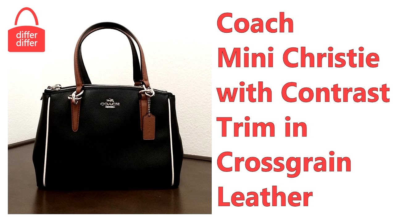 d378eac62a Coach Mini Christie Carryall With Contrast Trim In Crossgrain Leather 57487
