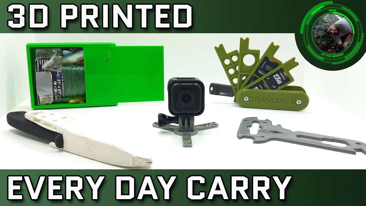 Five Useful 3D Printed Every Day Carry (EDC) Items