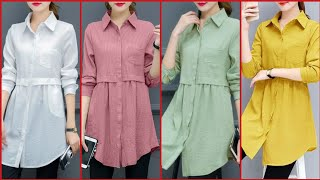 Top Class Stylish And Trendy Designer Mid Length Shirts Design
