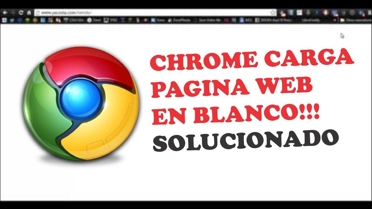 Pagina Web carga en blanco SOLUCIONADO!!!