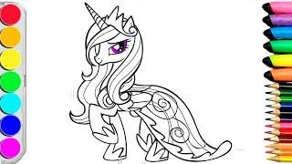 Раскраски для детей// Учим цвета и рисовать//Мой Маленький Пони// My Little Pony