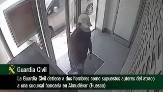 Operación Agarraderas. Detenidos dos hombres supuestos atracadores de un banco en Almudévar (Huesca)