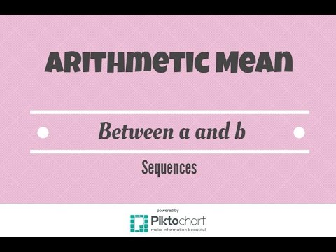 Write a sequence that has x arithmetic means between a and b