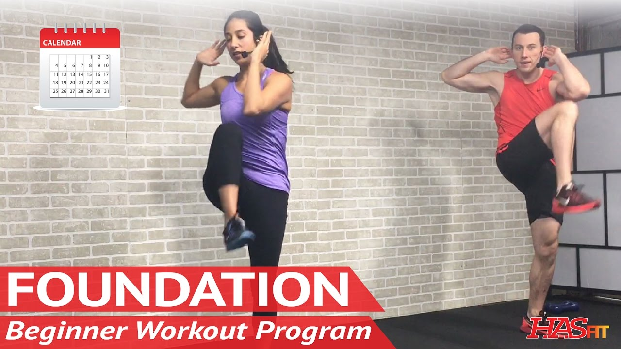 Foundation day beginner workout program free home workout