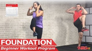 Foundation: 30 Day Beginner Workout Program | FREE Home Workout Plan for Beginners Exercise Calendar