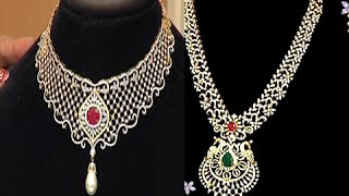 Latest Diamond Necklace Sets with Weight