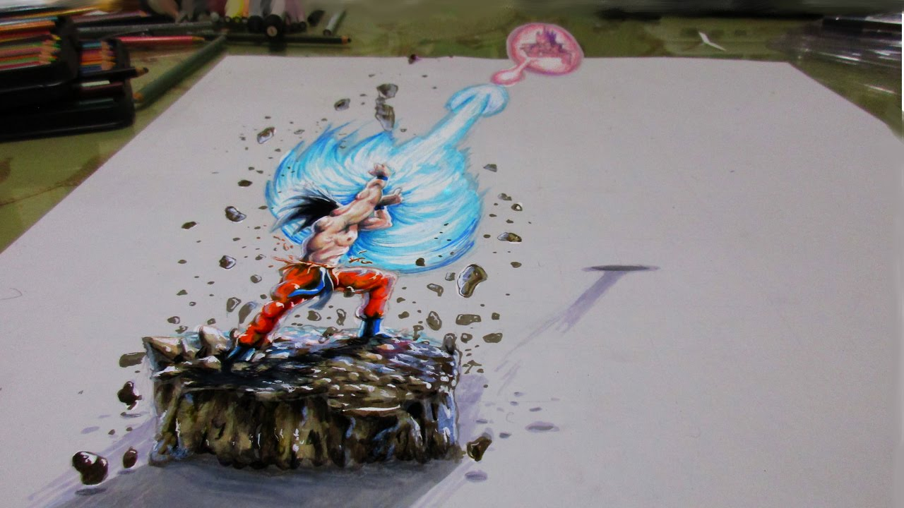 3d Drawing Dragon Ball Z Youtube