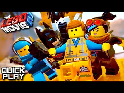 The LEGO Movie 2 game B-Roll - Tutorial and Giraffe Boss Fight Quick Play