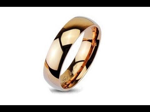 jewellery---tungsten-wedding-ring-in-pink-gold-colour,-shiny