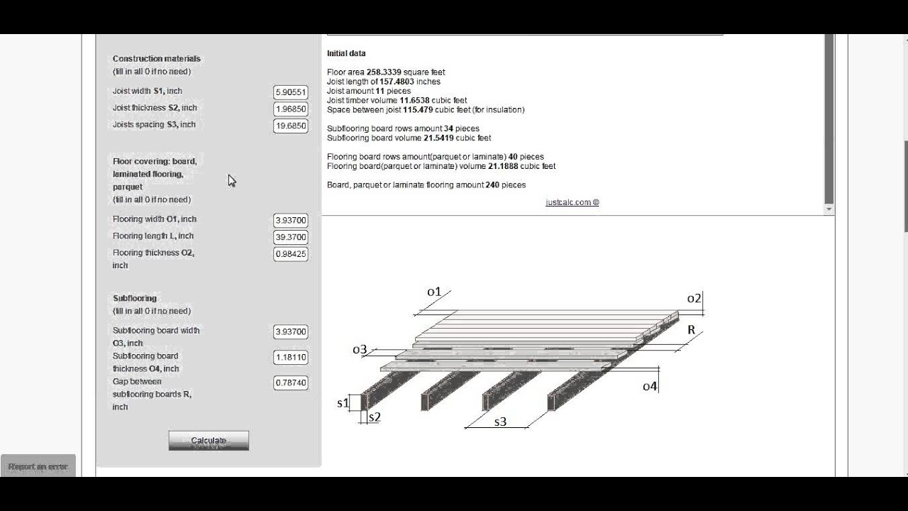 Floor Calculator Hardwood Laminate