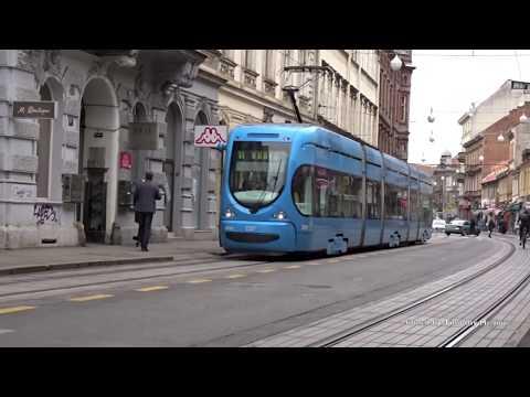 Trams in Zagreb, Croatia 2019 - Zagrebački električni tramvaj