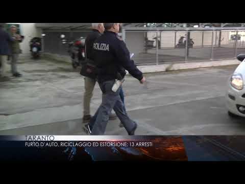 30 ottobre 2018 Taranto Furto d'auto riciclaggio ed estorsione 13 arresti