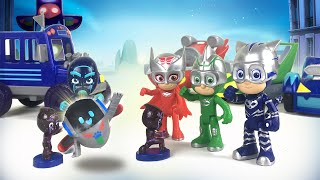 PJ Masks Speed Booster Rescue PJ Robot from Night Ninja || Playtime with Keith