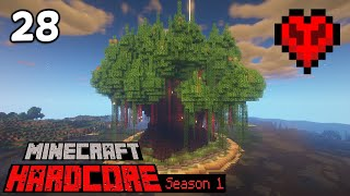 Mega Creeper Tree Complete! - Minecraft Hardcore: S1E28