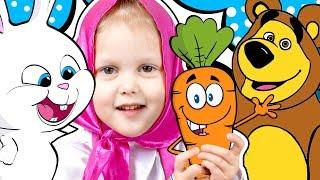 МАША И МЕДВЕДЬ Огород Миши Кролик Снежок потерял морковку Маша с Мишей нашли морковку для Кролика