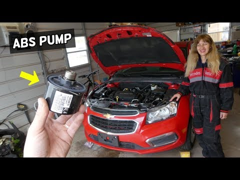 CHEVROLET CRUZE ABS PUMP REPLACEMENT REMOVAL LOCATION