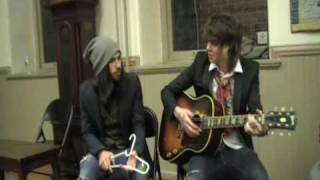 NeverShoutNever exclusive acoustic playing of Can