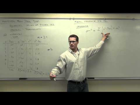 Statistics Lecture 5.2:  A Study of Probability Distributions, Mean, and Standard Deviation