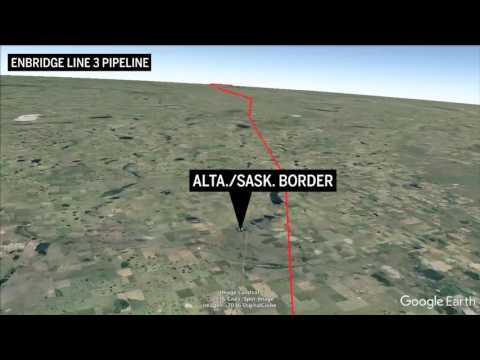 Fly the full length of the Line 3 pipeline route