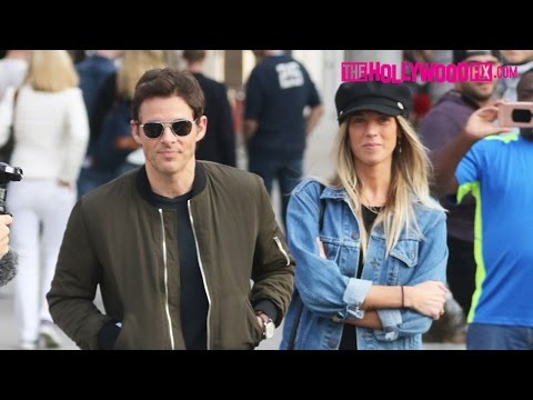 James Marsden From Westworld Goes Shopping With His Girlfriend On Rodeo Drive 12.13.16