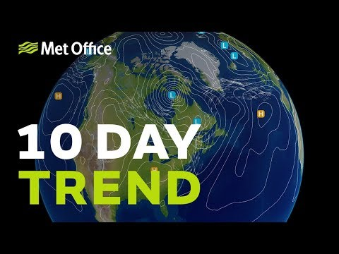 10 Day trend - turning much cooler, is summer on the way out? 22/08/18