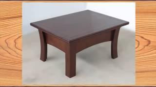 видео Раздвижной стеклянный стол: раскладной кухонный трансформер
