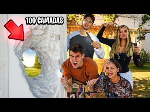 PRESOS DENTRO DE 100 CAMADAS DE ISOPOR!! ( DESAFIO IMPOSSÍVEL) [ REZENDE EVIL ]