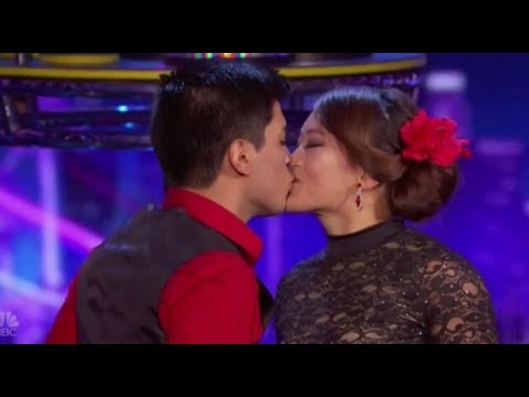 Dangerous Balancing Act Couple REVEAL Their Secret Marriage on Stage | America's Got Talent 2017