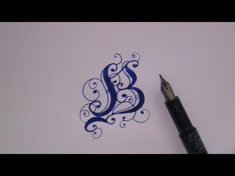 Cursive Fancy Letters How To Write Fancy Letter B For