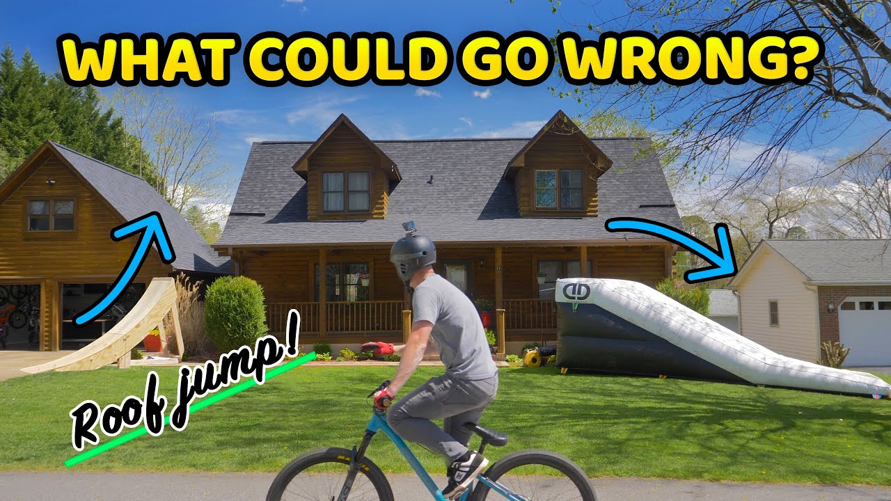 Building an insane roof jump in Joe's front yard!