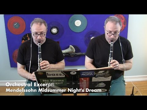Mendelssohn Scherzo (from Midsummer Night's Dream), Clarinet Orchestral Excerpt