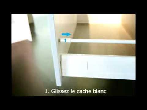 Meuble salle de bain modul art montage et r glage du for Meuble salle de bain tiroir coulissant