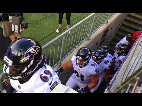 Terrell Suggs Singing And Ravens Players Pre-Game